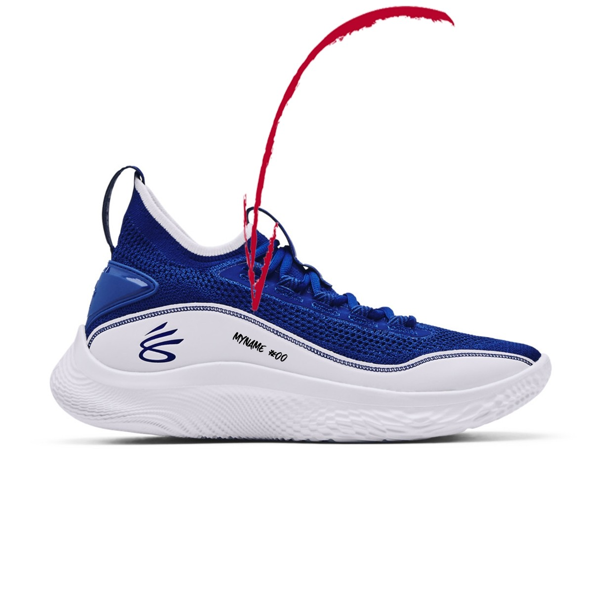 Under Armour Curry 8 Jr 'Dub Nation'-3023527-402
