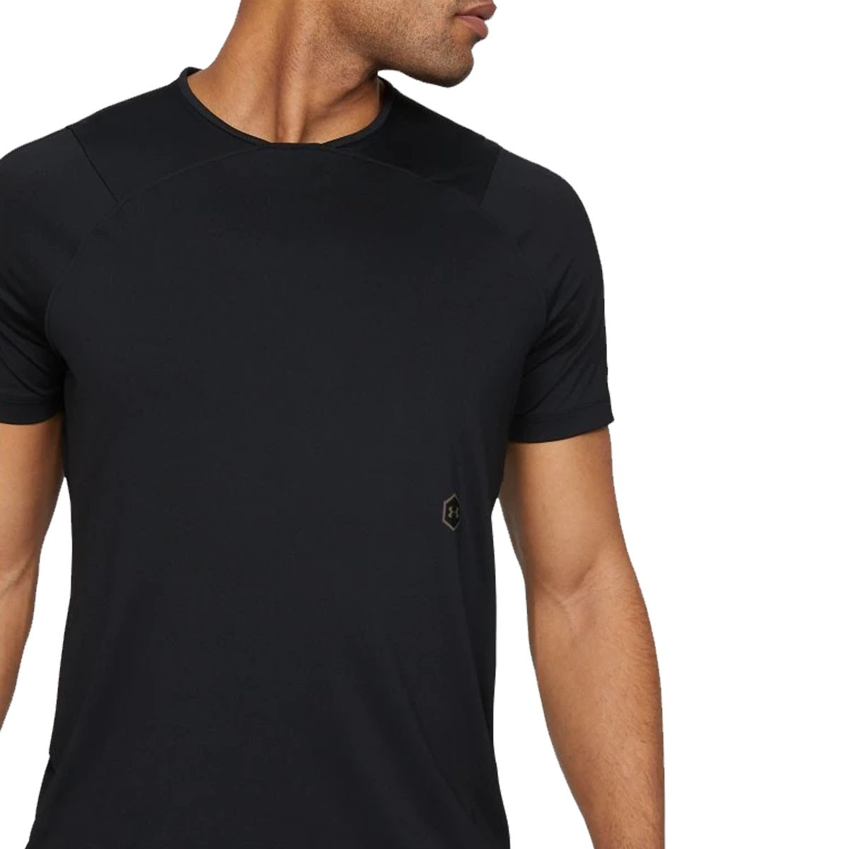 UA  Rush Fitted T-shirt 'Black'