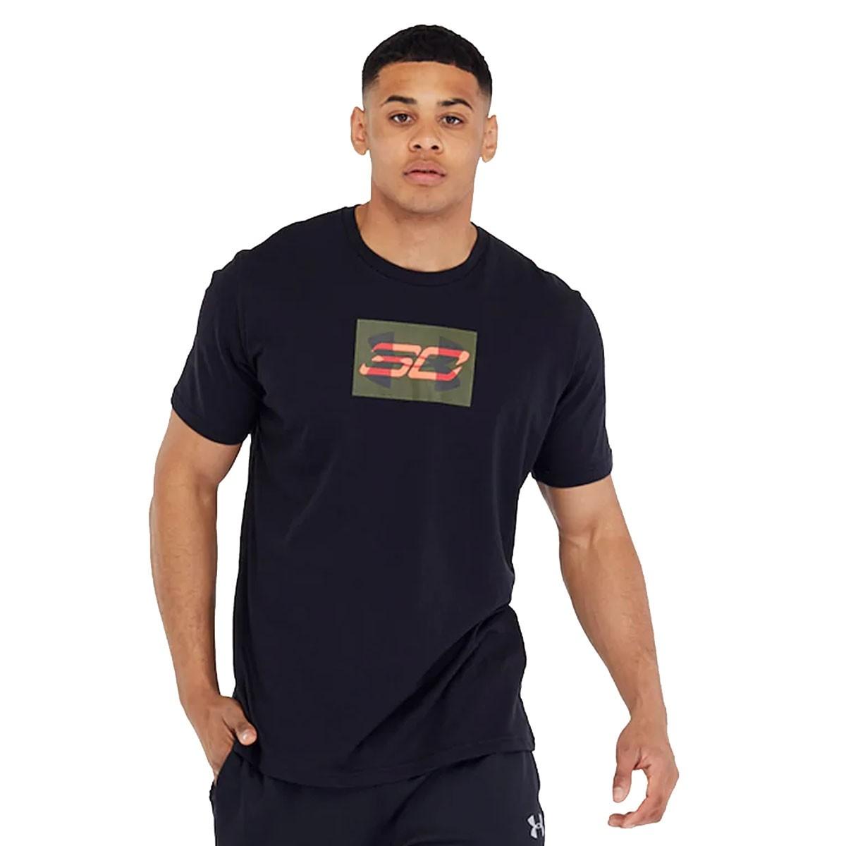 UA SC30 Overlay Short Sleeve T-Shirt 'Black'