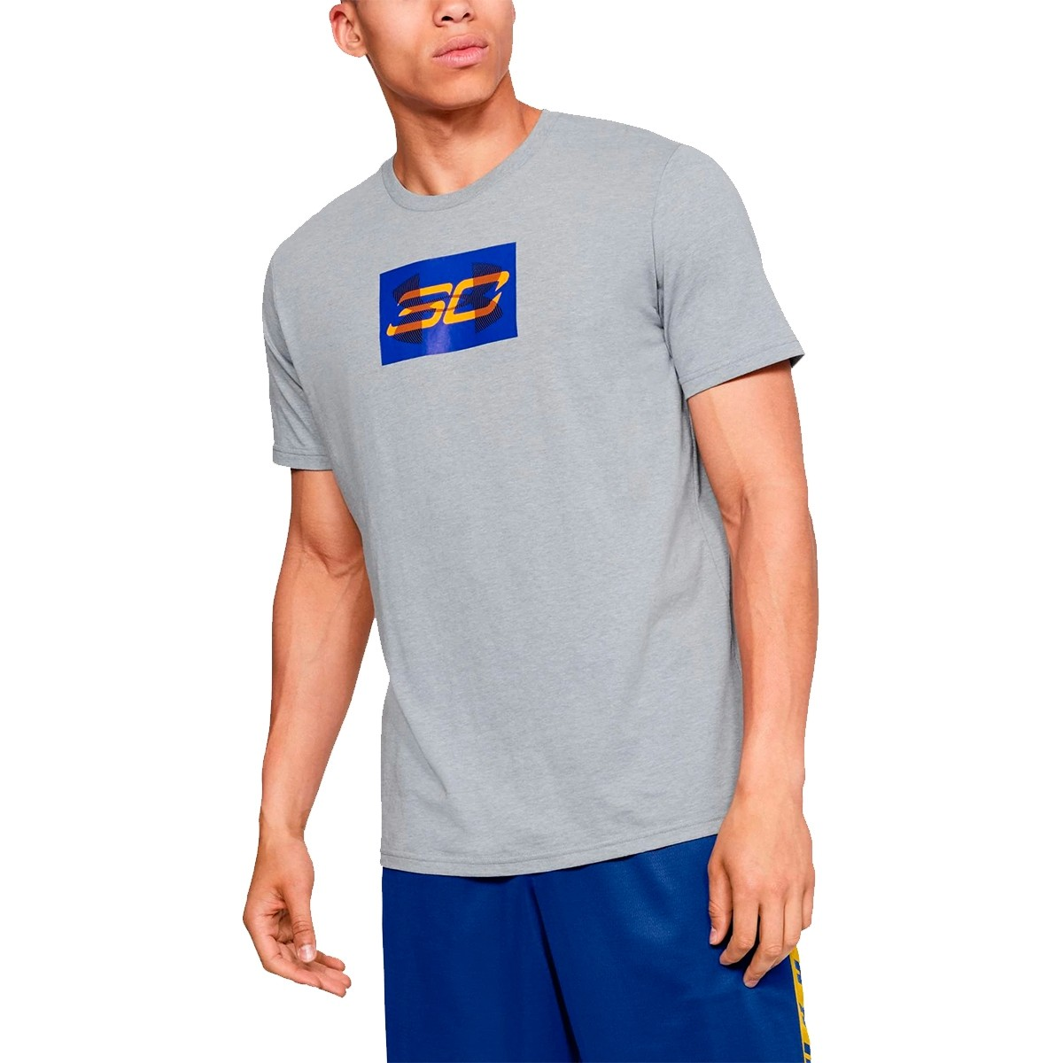 UA SC30 Overlay Short Sleeve T-Shirt 'Royal'