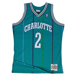 Mitchell & Ness Swingman Jersey Charlotte Hornets Larry Johnson '1992-93'