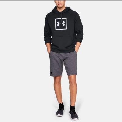 UA Rival Fleece Logo Hoodie 'Black' 1329745-001