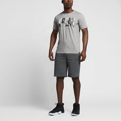 Air Jordan 6 Photo T-Shirt 'Grey' 833929-063