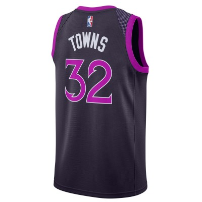 Nike NBA Timberwolves Swingman Jersey Towns 'City Edition' AJ4626-526