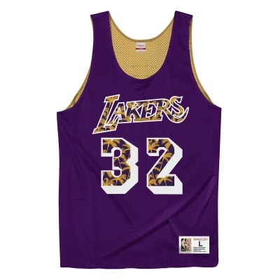 Camiseta Reversible Mitchell & Ness Los Angeles Lakers 'Magic Johnson'-MSRVMI19003-LAL