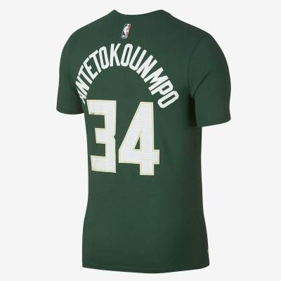 Nike Junior NBA Bucks Nick Name Tee Antetokounmpo 'Icon Edition' EZ2B711F1-ANTE