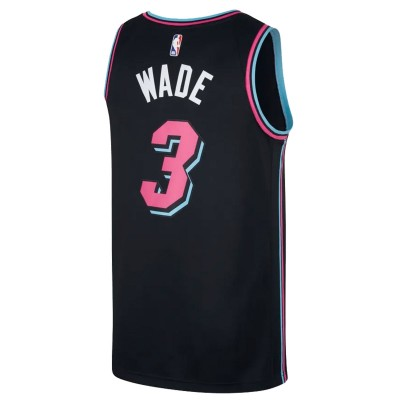 Nike Junior NBA Miami Heat Swingman Jersey Wade 'City Edition' EZ2B7B1BP-MHDW