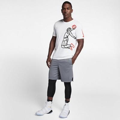 Nike LBJ Dry Tee Famous 'White' 882186-100