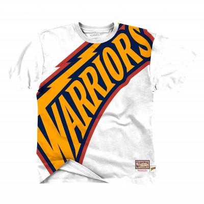 Mitchell & Ness Big Face Tee 'Warriors'-SSTEBWW19070-GS