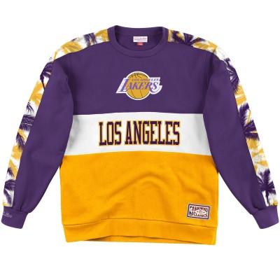 Mitchell & Ness Hoodie Fleece Crew NBA 'Lakers' LALPURP