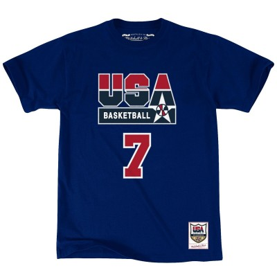 Mitchell & Ness Name & Number Tee Team USA 'Bird' BMTRCW18467
