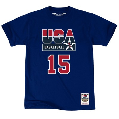 Mitchell & Ness Name & Number Tee Team USA 'Magic' BMTRCW18473