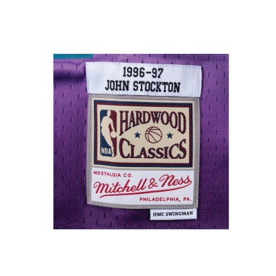 Mitchell & Ness Swingman Jersey Utah Jazz John Stockton '1996-97'-SMJYGS18217