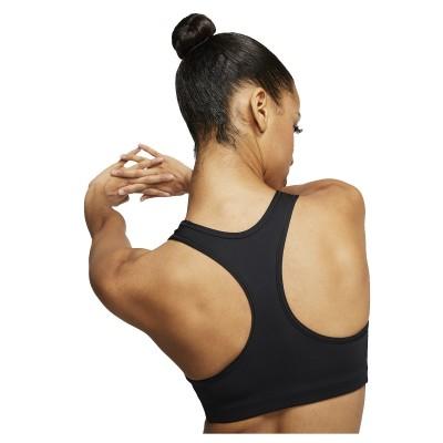 Nike Dri-FIT Swoosh Bra 'Black'-BV3630-010