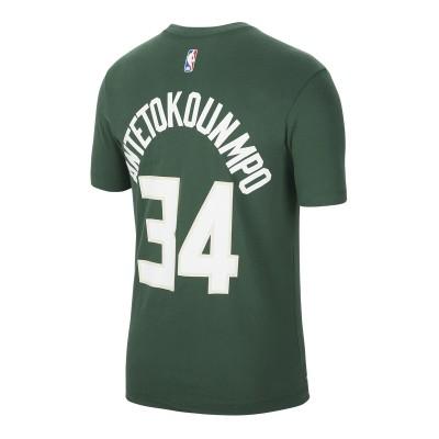 Nike Dri Fit T-Shirt Bucks 'Antetokounmpo'-BQ1546-326