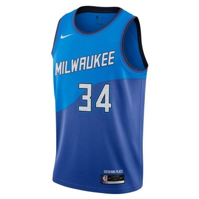 Nike Jr NBA Milwaukee Bucks Swingman Jersey Giannis Antetokounmpo 'City Edition'-EZ2B7BXCP-BCKGA