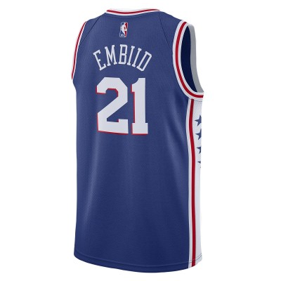 Nike NBA Phila Swingman Jersey Embiid 19/20 'Icon Edition'  CJ7678-498
