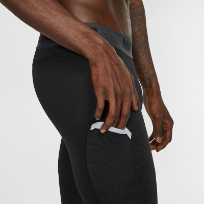 Nike Pro Men's 3/4 Basketball Tights 'Black'-AT3383-010
