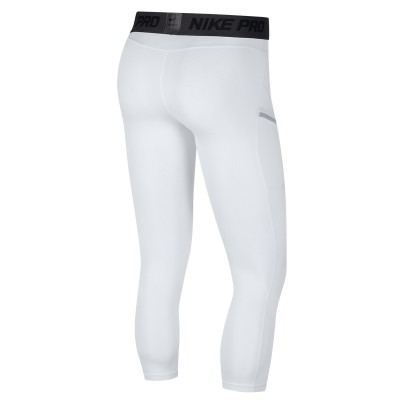 Nike Pro Men's 3/4 Basketball Tights 'White'-AT3383-100