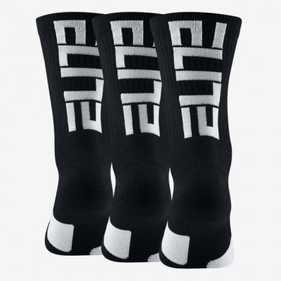 Nike Elite Crew 3 Pack Socks 'Black' SX7627-010