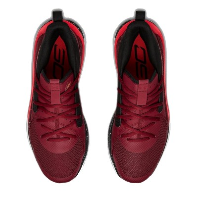 Under Armour Curry 7 Jr 'Red Cordova'-3022113-605