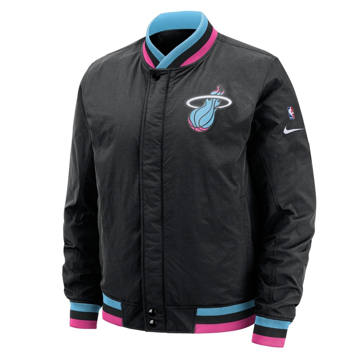 wholesale dealer 5bb9b c8280 Nike NBA Miami Heat Jacket Courtside