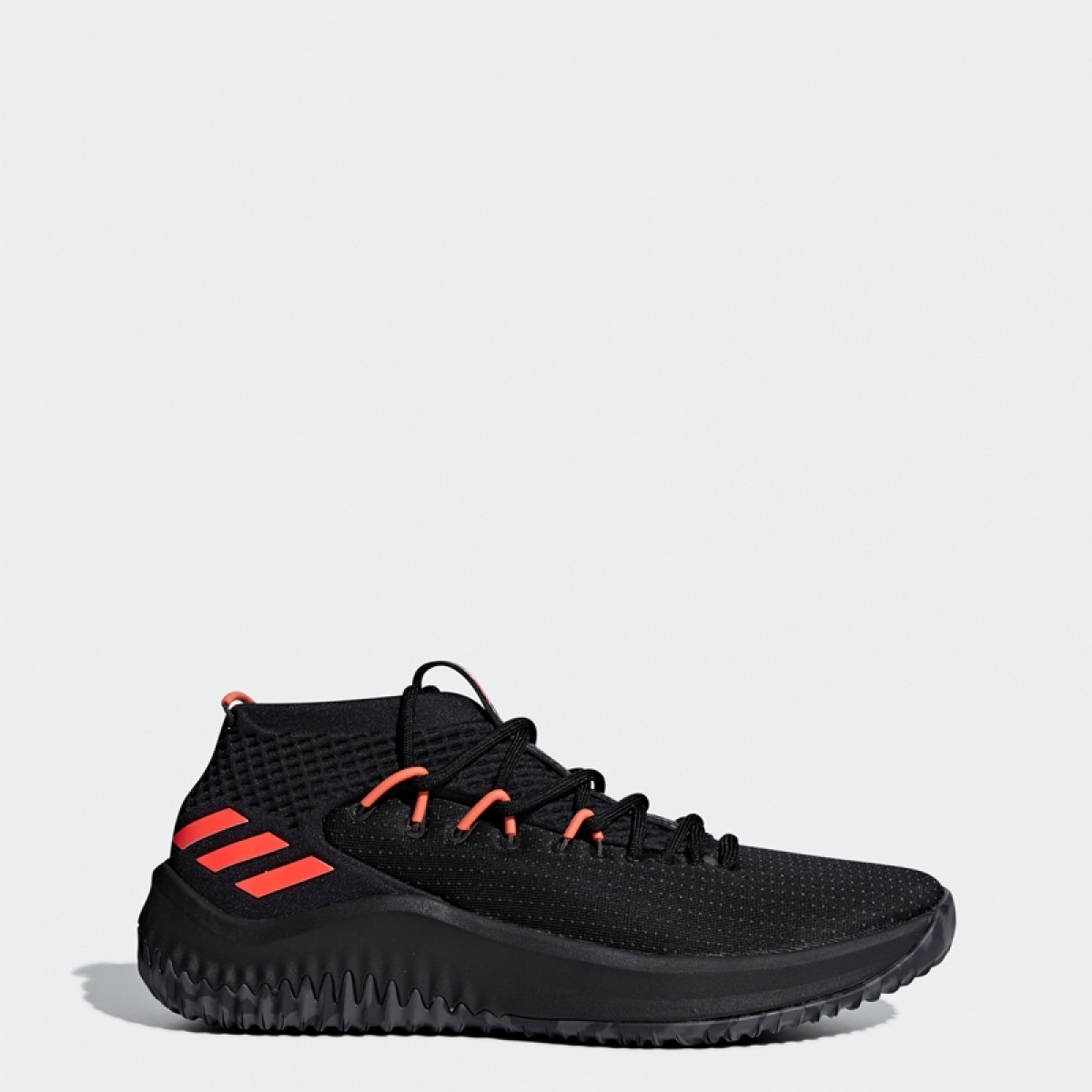 f3d6757eea04 Buy ADIDAS Dame 4  Black Infrared  Basketball shoes   sneakers